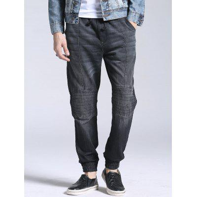 Elasitc Waist Faded Jogger JeansMens Pants<br>Elasitc Waist Faded Jogger Jeans<br><br>Closure Type: Elastic Waist<br>Fabric Type: Denim<br>Fit Type: Regular<br>Front Style: Flat<br>Material: Cotton, Spandex<br>Package Contents: 1 x Jeans<br>Pant Length: Long Pants<br>Pant Style: Jogger Pants<br>Style: Fashion<br>Waist Type: Mid<br>Weight: 0.7300kg<br>With Belt: No