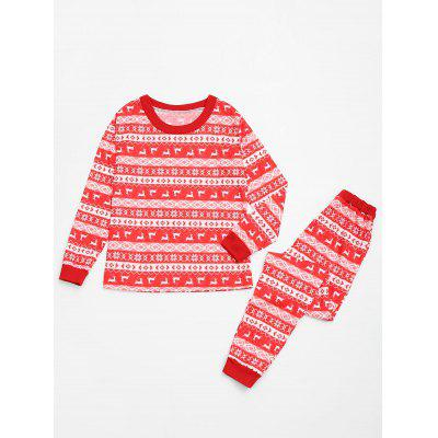 Fair Isle Printed Family Christmas PajamaPajamas<br>Fair Isle Printed Family Christmas Pajama<br><br>Material: Cotton, Polyester<br>Package Contents: 1 x Family Pajama<br>Pattern Type: Print<br>Weight: 0.6500kg