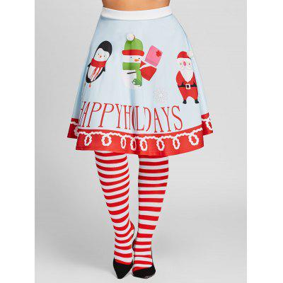 Plus Size High Waisted Santa Claus Print SkirtPlus Size<br>Plus Size High Waisted Santa Claus Print Skirt<br><br>Length: Knee-Length<br>Material: Polyester<br>Package Contents: 1 x Skirt<br>Pattern Type: Print<br>Season: Fall, Spring<br>Silhouette: A-Line<br>Weight: 0.3000kg