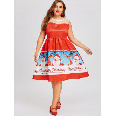 Plus Size Santa Claus Print Christmas DressPlus Size Dresses<br>Plus Size Santa Claus Print Christmas Dress<br><br>Dresses Length: Knee-Length<br>Material: Polyester<br>Neckline: Round Collar<br>Package Contents: 1 x Dress<br>Pattern Type: Print, Patchwork<br>Season: Fall, Spring<br>Silhouette: A-Line<br>Sleeve Length: Sleeveless<br>Style: Brief<br>Weight: 0.4000kg<br>With Belt: No