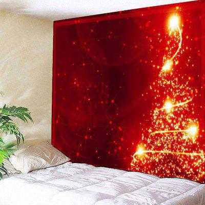 Wall Hanging Sparkling Christmas Tree Print Tapestry