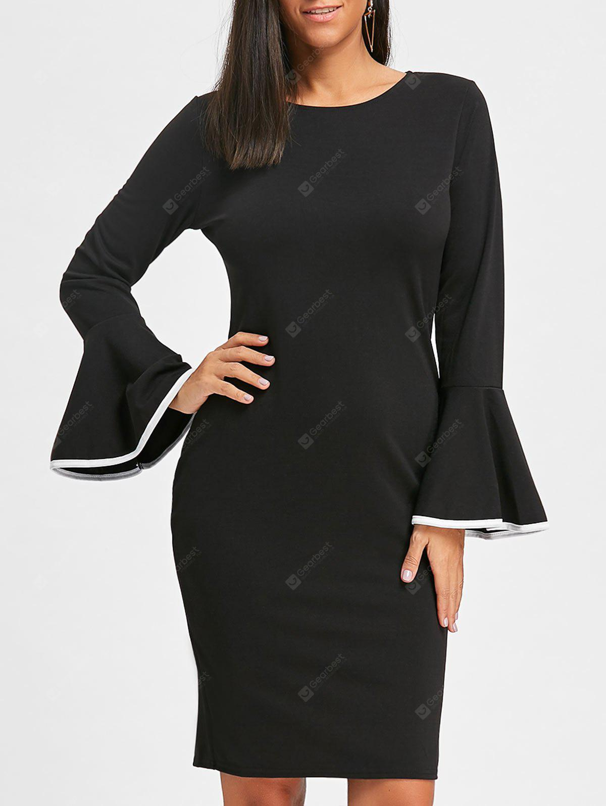 Bell Sleeve Bodycon Party Dress