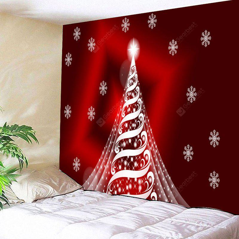 Sparkling Christmas Tree Print Wall Decor Tapestry