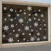 Christmas Snowflakes Pattern Wall Stickers For Bedroom - WHITE