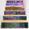 3D Lavender Printed Home Decor Stair Stickers - PURPLE
