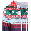 Christmas Print Drawstring Pullover Hoodie - COLORMIX