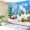 Wall Hanging Art Christmas Trees Houses Print Tapestry - COLORMIX