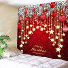 Christmas Ball and Star Print Wall Decor Tapestry - RED