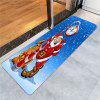 Santa Claus Clock Pattern Skidproof Rug - BLUE AND RED