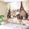 Wall Decor Christmas Snowscape Pattern Tapestry - COLORMIX