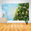Christmas Tree and Snowflake Print Wall Decor Tapestry - COLORMIX