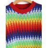 Colorful Rainbow Sweater Dress - COLORMIX