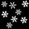Christmas Snowflakes Pattern Party Decor Projector Light Bulb - WHITE