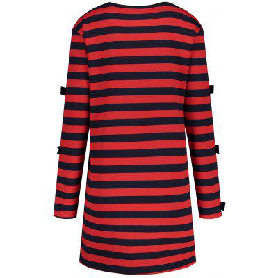 Plus Size Letter Cutout Stripe Tunic DressPlus Size Dresses<br>Plus Size Letter Cutout Stripe Tunic Dress<br><br>Dresses Length: Mini<br>Embellishment: Cut Out<br>Material: Polyester<br>Neckline: Round Collar<br>Package Contents: 1 x Dress<br>Pattern Type: Letter, Graphic<br>Season: Fall, Winter<br>Silhouette: Straight<br>Sleeve Length: Long Sleeves<br>Style: Casual<br>Weight: 0.4100kg<br>With Belt: No