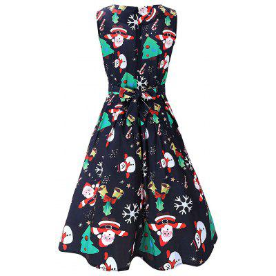 Vintage Santa Claus Print Christmas DressWomens Dresses<br>Vintage Santa Claus Print Christmas Dress<br><br>Dresses Length: Knee-Length<br>Material: Polyester, Spandex<br>Neckline: Round Collar<br>Package Contents: 1 x Dress<br>Pattern Type: Print<br>Season: Spring, Fall<br>Silhouette: A-Line<br>Sleeve Length: Sleeveless<br>Style: Vintage<br>Weight: 0.4200kg<br>With Belt: No