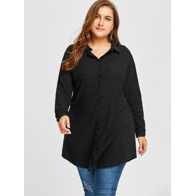 Plus Size Button Up Longline ShirtPlus Size Tops<br>Plus Size Button Up Longline Shirt<br><br>Collar: Shirt Collar<br>Material: Polyester<br>Package Contents: 1 x Shirt<br>Pattern Type: Solid<br>Season: Spring, Fall<br>Shirt Length: Long<br>Sleeve Length: Full<br>Style: Casual<br>Weight: 0.4400kg