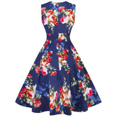 Vintage Floral Print Pin Up Party DressWomens Dresses<br>Vintage Floral Print Pin Up Party Dress<br><br>Dress Type: Fit and Flare Dress<br>Dresses Length: Knee-Length<br>Material: Cotton, Polyester<br>Neckline: Sweetheart Neck<br>Package Contents: 1 x Dress<br>Pattern Type: Floral<br>Season: Spring, Fall<br>Silhouette: A-Line<br>Sleeve Length: Sleeveless<br>Style: Vintage<br>Weight: 0.3500kg<br>With Belt: No