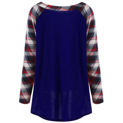 Plus Size Raglan Sleeve Plaid TopPlus Size Tops<br>Plus Size Raglan Sleeve Plaid Top<br><br>Collar: V-Neck<br>Material: Rayon, Spandex<br>Package Contents: 1 x Top<br>Pattern Type: Plaid<br>Season: Fall, Spring<br>Shirt Length: Long<br>Sleeve Length: Full<br>Style: Casual<br>Weight: 0.3000kg