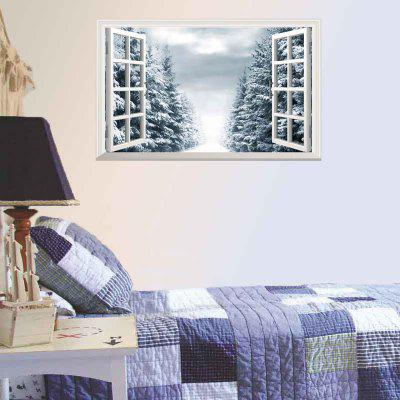 Removable 3D Window Scenery Christmas Decorative Wall Decal
