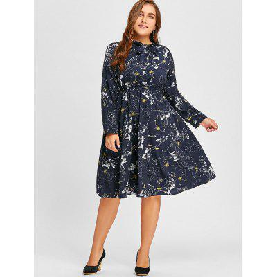 Plus Size Floral Print Bowknot DressPlus Size Dresses<br>Plus Size Floral Print Bowknot Dress<br><br>Dresses Length: Knee-Length<br>Embellishment: Bowknot,Button<br>Material: Polyester<br>Neckline: Shirt Collar<br>Package Contents: 1 x Dress<br>Pattern Type: Floral<br>Season: Fall, Spring<br>Silhouette: A-Line<br>Sleeve Length: Long Sleeves<br>Style: Casual<br>Weight: 0.3500kg<br>With Belt: No