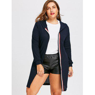 Plus Size Ribbed Longline Hooded CardiganPlus Size<br>Plus Size Ribbed Longline Hooded Cardigan<br><br>Collar: Hooded<br>Material: Polyester<br>Package Contents: 1 x Cardigan<br>Pattern Type: Solid<br>Season: Winter, Fall<br>Sleeve Length: Full<br>Style: Fashion<br>Type: Cardigans<br>Weight: 0.4700kg