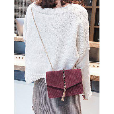 Chain Tassel Suede Crossbody BagCrossbody Bags<br>Chain Tassel Suede Crossbody Bag<br><br>Closure Type: Magnetic Closure<br>Gender: For Women<br>Handbag Size: Mini(&lt;20cm)<br>Handbag Type: Crossbody bag<br>Main Material: Suede<br>Occasion: Versatile<br>Package Contents: 1 x Crossbody Bag<br>Pattern Type: Solid<br>Style: Fashion<br>Weight: 0.3100kg