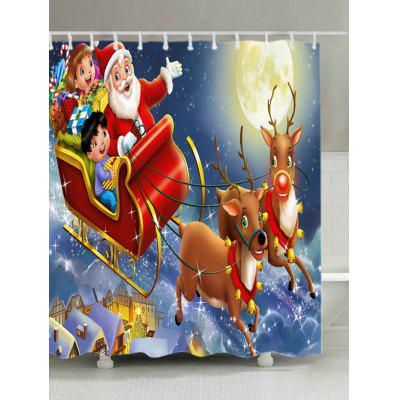 Buy Christmas Moon Santa Sleigh Print Waterproof Shower Curtain, COLORMIX, Home & Garden, Bathroom, Shower Curtain for $19.16 in GearBest store