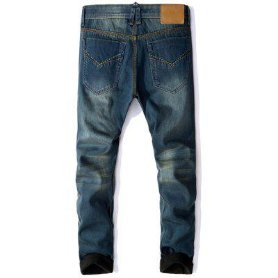 Zip Fly Flocking Thermal Denim PantsMens Pants<br>Zip Fly Flocking Thermal Denim Pants<br><br>Closure Type: Zipper Fly<br>Fit Type: Regular<br>Material: Cotton, Polyester<br>Package Contents: 1 x Pants<br>Pant Length: Long Pants<br>Waist Type: Mid<br>Wash: Medium<br>Weight: 0.9100kg<br>With Belt: No