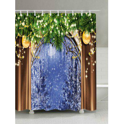 Buy Christmas Tree Window Print Waterproof Shower Curtain, COLORMIX, Home & Garden, Bathroom, Shower Curtain for $17.53 in GearBest store
