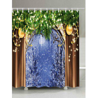 Buy Christmas Tree Window Print Waterproof Shower Curtain, COLORMIX, Home & Garden, Bathroom, Shower Curtain for $19.16 in GearBest store
