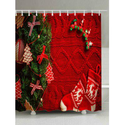 Buy Christmas Tree Knitwear Print Waterproof Shower Curtain, RED, Home & Garden, Bathroom, Shower Curtain for $19.16 in GearBest store