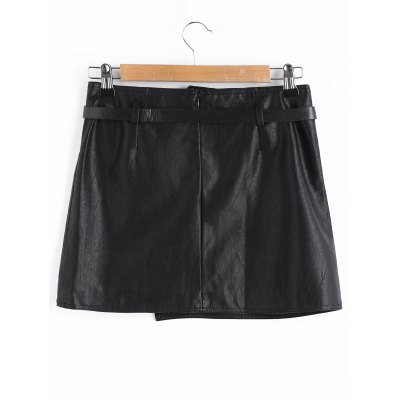 Faux Leather Belt Mini SkirtSkirts<br>Faux Leather Belt Mini Skirt<br><br>Length: Mini<br>Material: Polyester<br>Package Contents: 1 x Skirt  1 x Belt<br>Pattern Type: Solid<br>Silhouette: A-Line<br>Weight: 0.3800kg<br>With Belt: Yes