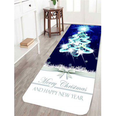Christmas Tree and Letters Pattern Skidproof Rug