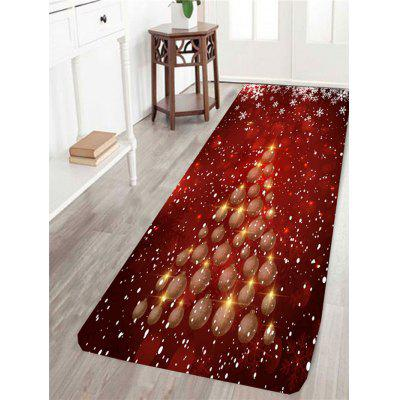 Christmas Baubles Tree Pattern Skidproof Rug