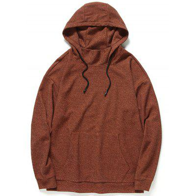 Buy Heathered Mens Hoodie DARK AUBURN L for $38.90 in GearBest store