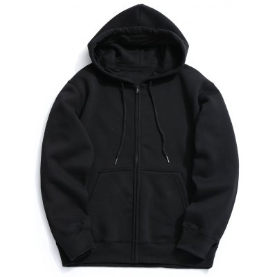 Kangaroo Pocket Fleece Zip Up Hoodie