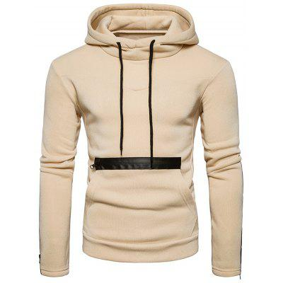 Edging Zipper Fleece Pullover Hoodie
