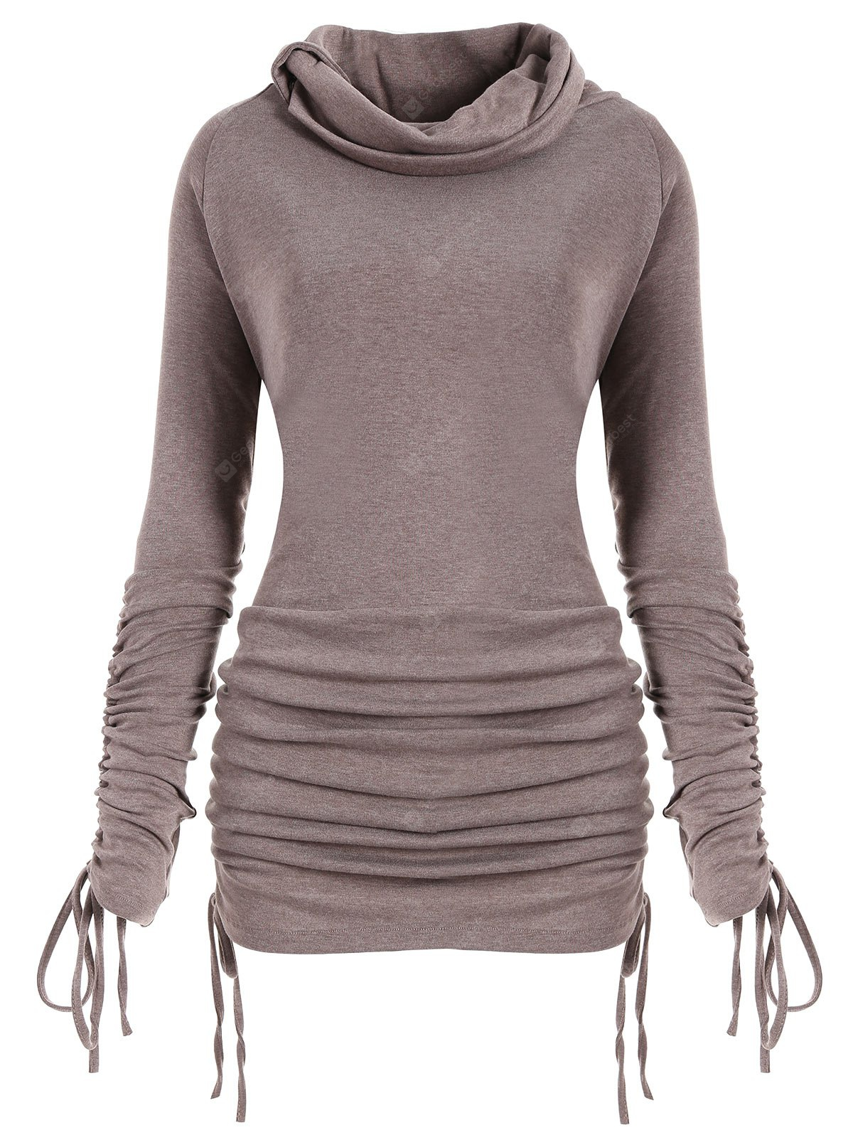 Plus Size Convertible Long Sweatshirt