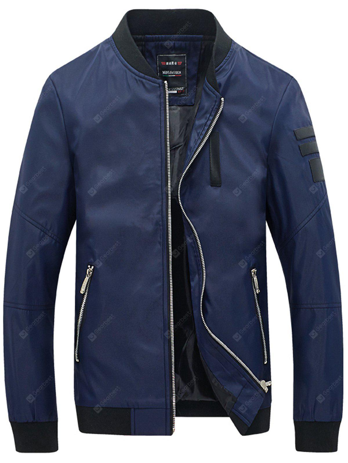 Giacca Casual Slim Con Tasca A Zip