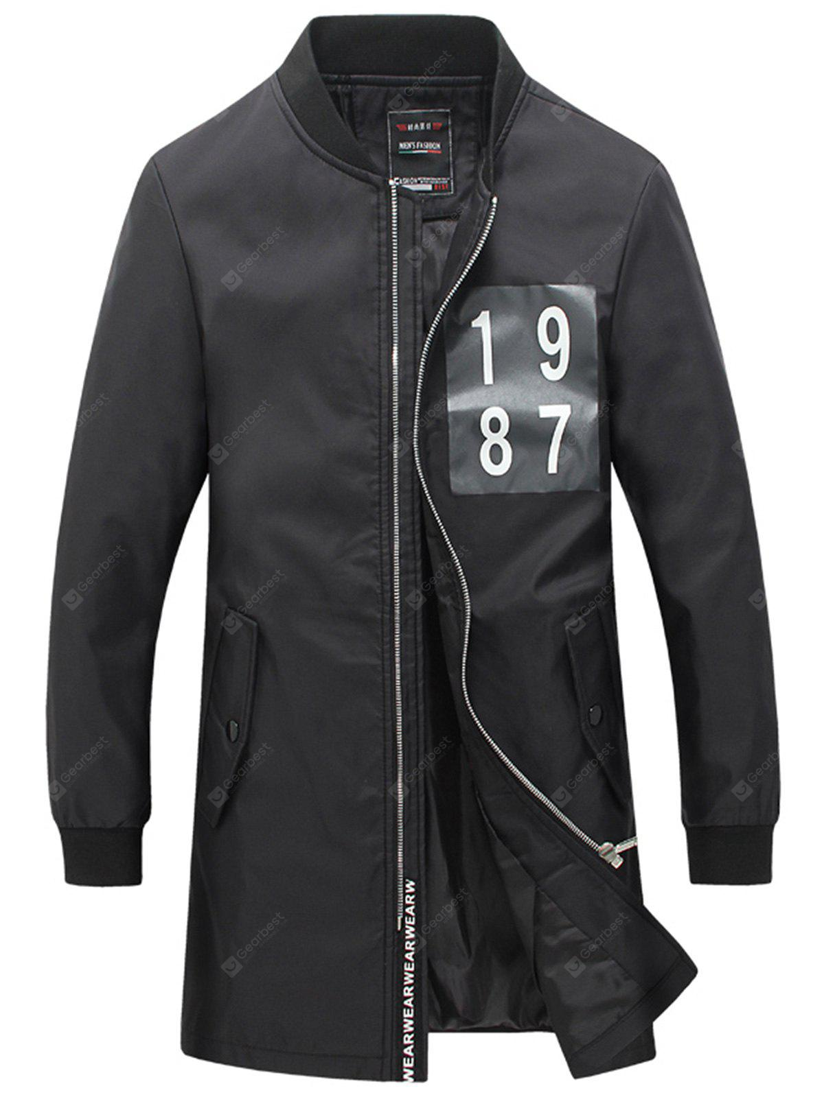 Stampa numero Stampa Slim Fit Coat