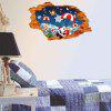 Removable 3D Hole Christmas Decorative Wall Decal - BLUE