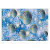 Christmas Baubles Pine Pattern Water Absorption Area Rug - ICE BLUE