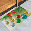 Christmas Baubles Pine Tree Pattern Water Absorption Area Rug - COLORMIX