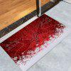 Christmas Snowfield Deer Pattern Water Absorption Area Rug - RED