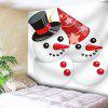 Christmas Snowmen Couple Pattern Tapiz de arte de pared - ROJO+BLANCO