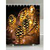 Christmas String Lights Print Cortina de ducha impermeable - AMARILLO