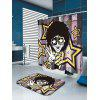 Afro Curly Hair Hip Hop Man Pattern Shower Curtain - COLORMIX