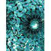 Beading Sequined Night Club Bra - TURQUOISE