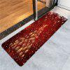 Christmas Baubles Tree Pattern Skidproof Rug - RED
