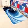 Blue Starlight Christmas Gift Pattern Skidproof Rug - COLORFUL